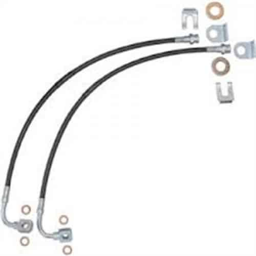 pro comp extended brake hose kit front rear 2007