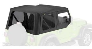 Bestop Replace-a-Top Soft Top Tinted Windows-With Upper Door Skins