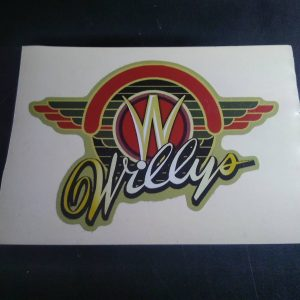 Willys W Sticker