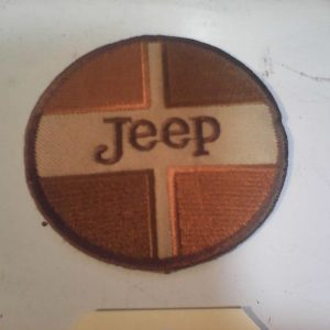 jEEP pATCH rOUND bROWN